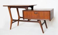 Vintage Side Table by Louis van Teeffelen Mcm Furniture, Furniture Styles, Vintage Furniture, Furniture Design, Cheap Furniture, Luxury Furniture, Mid Century Decor, Mid Century House, Mid Century Modern Design