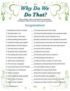 Wedding Shower Games & Bridal Games