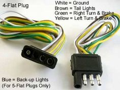 Tips for Installing 4-Pin Trailer Wiring - AxleAddict Boat Trailer Lights, Trailer Light Wiring, Trailer Wiring Diagram, Trailer Plans, Trailer Build, Trailer Hitch, Gypsy Trailer, Kayak Trailer, Camping Trailers