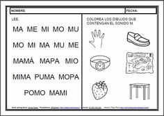 MATERIALES - Fichas de lectoescritura - M. Fichas para el aprendizaje de la lectoescritura en letra mayúscula. http://arasaac.org/materiales.php?id_material=983