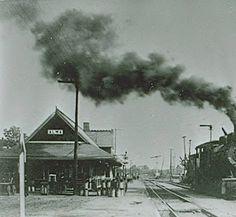Alma, MI train depot: Archival photographs.
