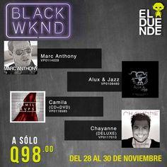 ¡Ofertas exclusivas de Música durante el #BlackWeekend de El Duende! #BlackFriday
