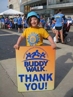 This sign makes the participants feel appreciated at the 2013 Cleveland Buddy Walk.