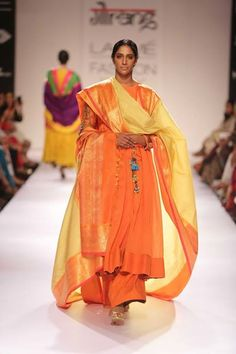 "Gaurang Shah showcased his collection ""Chitr-Sena"" with exotic colours at Lakme Fashion Week Winter Festive 2014. Read more about Lakme Fashion Week on my blog - http://bigfatasianwedding.com!"