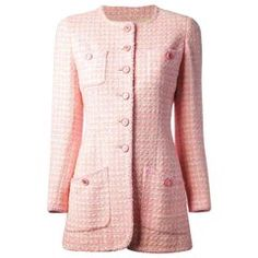 15a333bf0e1 Iconic Chanel Pink Lesage Tweed CC Logo Button Jacket