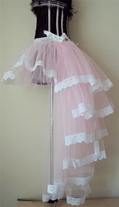 Burlesque Pink White Baby Pink Moulin Rouge Bustle Tutu Skirt ...