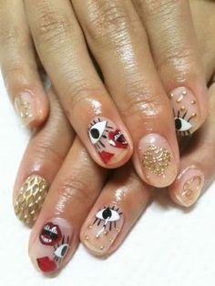 CUTE negative space nail art for natural nails! Nail Art Designs, French Manicure Designs, Nail Art Cute, Cute Nails, Coffin Nails, Gel Nails, Nail Nail, Nail Polish, Nail Design Glitter