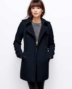 Wool Blend Trench | Ann Taylor