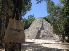 Nohoch Mul Pyramid at Coba Quintana Roo, Mexico #ReadEverywhere