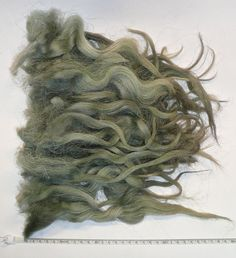 GRAUGRÜN - Locken vom Walachenschaf aus einer Liebhaberzucht.  seine matten Locken sind grüngrau in Nuancen, grob, rauh und eigenwillig in ihrer Struktur, nur groß und schwach gewellt, aus der...