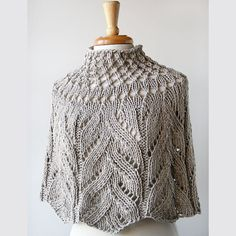 eco-chic. organic cotton hand-knit capelet. elena rosenberg.
