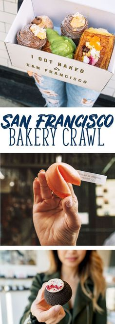 What better way to explore San Francisco by letting your sweet tooth be the guide? Explore four of the best bakeries in the city in my San Francisco bakery crawl. Here's where to go, what to order and even a video tour to help you plan your adventure. Golden State, San Francisco Travel Guide, San Francisco Food, San Francisco California, New York City, San Diego, Good Bakery, Travel Checklist, Travel Tips