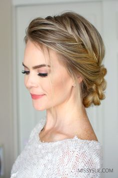 Francés Fishtail Braid Updo //  #Braid #Fishtail #francés #Updo