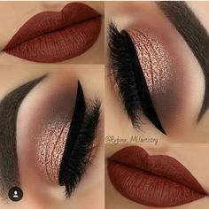 36 Best Maroon Matte Lipstick Shades to Look Stunningly Beau.- 36 Best Maroon Matte Lipstick Shades to Look Stunningly Beautiful Beautiful Makeup Ideas with Maroon Lips picture 3 - Prom Makeup, Cute Makeup, Gorgeous Makeup, Pretty Makeup, Wedding Makeup, Makeup For Quinceanera, Wedding Nails, Bold Makeup Looks, Holiday Makeup Looks