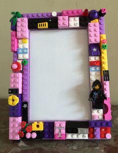 Lego 4x6 picture frame by Brickshaw on Etsy https://www.etsy.com/listing/203464807/lego-4x6-picture-frame