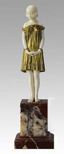 CHIPARUS, Demetre Romanian  Art Deco sculptor (1886-1947)_innocence