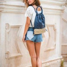 MINERVA-bolso-mochila-azul-blover2_640x960 Overall Shorts, Overalls, Women, Fashion, Backpack Purse, Backpacks, Blue Nails, Handbags, Jumpsuits