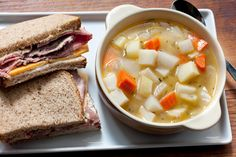 A hearty and healthy fall or winter soup from the Spotted Pig's April Bloomfield, filled with celery root, potatoes, fennel, carrots, turnips, and parsnips.