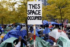 Occupy Wall Street encampment at Zuccotti Park in New York City #OWS