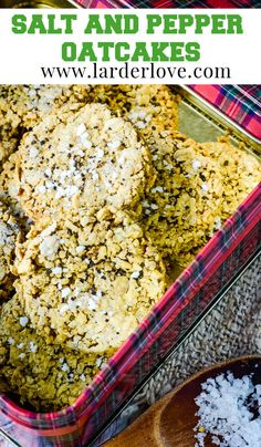Super simple traditional Scottish salt and pepper oatcakes, perfect as a nibble, on a cheeseboard or with a bowl of soup too. #oatcakes #scottishbaking #snacks #larderlove Nibbles For Party, Picnic Time, Bowl Of Soup, Larder, Super Simple, Salt And Pepper, Tray Bakes, Healthy Snacks, Easy Meals