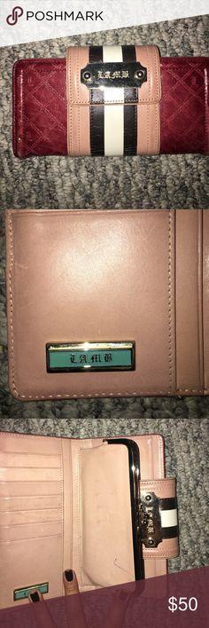 Lamb wallet. Lamb maroon seven card wallet with box. lamb Bags Wallets