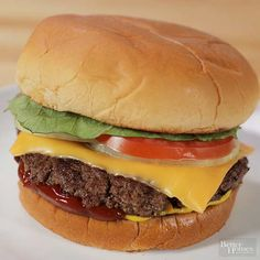 Smash your quarter-pound burgers with a spatula as they grill to get that diner-like crispy crust—and to help them reach a nice medium temperature in a jiffy.