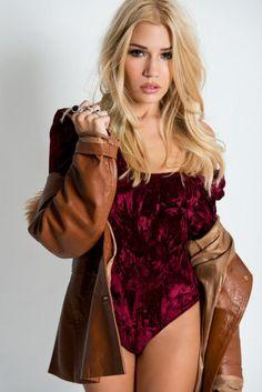 TABBY RICHARDS Bodysuit, Celebrities, Tops, Women, Fashion, Onesie, Moda, Fashion Styles, Shell Tops
