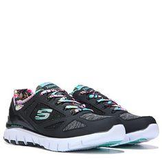 Skechers Skech Flex Tropical Vibes Memory Foam Running Shoe Black Multi