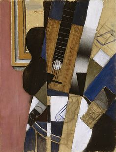 Juan Gris 'Guitar and Pipe' 1913 Oil on canvas 65 x 50 cm