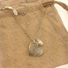FINGERPRINT necklace, Custom heart fingerprint, made from JPEG image of Fingerprint or Thumbprint, keepsake jewelry by MayaBelle on Etsy https://www.etsy.com/listing/237506679/fingerprint-necklace-custom-heart