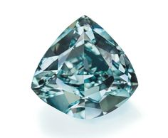 5.50-carat fancy vivid blue-green diamond • Christie's - Sold for 8.6 million, setting a new world record price for a blue-green diamond.