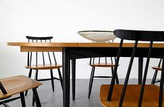 Extendable Dining Table by Ilmari Tapiovaara for Asko - Made in Finland_Gallery Extendable Dining Table, Finland, Designers, Chairs, Interiors, Gallery, Furniture, Home Decor, Scandinavian