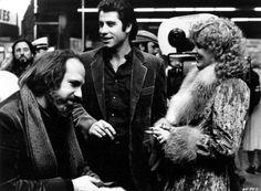 Brian De Palma, John Travolta and Nancy Allen on-set of Blow Out (1981); Source: http://fuckyeahdirectors.tumblr.com/post/117028713884/brian-de-palma-john-travolta-and-nancy-allen