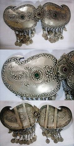 Late-Ottoman, ca. second half of Ethnic Jewelry, Silver Jewellery, Rococo Style, Ancient Jewelry, Folk Costume, Belts For Women, Bulgaria, Traditional Outfits, Belt Buckles