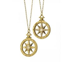 Travel Global Compass Necklace