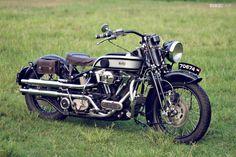A modern American cruiser with vintage Brit iron looks! Harley Softail Springer - Norton by Cosmas Lili Sudrajat, Yogyakarta American Motorcycles, Cool Motorcycles, Vintage Motorcycles, Custom Harleys, Custom Bikes, Bike Friday, Cowboys From Hell, Harley Softail, Hot Bikes