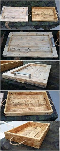 Such a cute and lovely design of the wood pallet ideal designing is featured out here. It seems to be a romantic sign touch in the tray creation of wood pallet is outstanding looking to make it part of your kitchen utensils. Wood Projects That Sell, Wooden Pallet Projects, Wooden Pallets, Pallet Ideas, Pallet Wood Ideas To Sell, Wooden Trays, 1001 Pallets, Pallet Crafts, Recycled Pallets