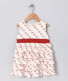 Very cute - Red Cherry Organic Ruffle Top - Infant, Toddler & Girls by violet + moss Girls on #zulily today!