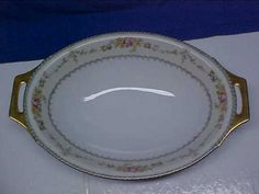 Vintage-Meito-China-Hand-Painted-Made-in-Japan-11-3-4-Oval-Serving-Bowl