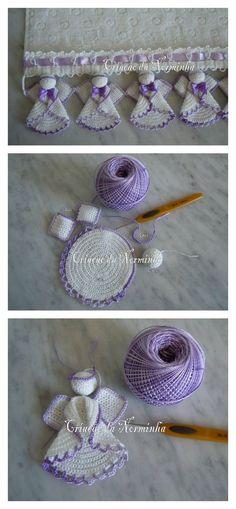 Pretty Christmas Angels Crochet Pattern