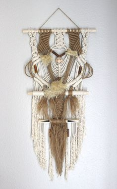 Macrame Wall Hanging Bali no.2 by HIMO ART One of a by HIMOART