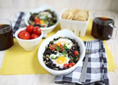Southwestern baked eggs (click through for recipe)