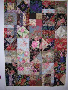 Pretty flowery quilt