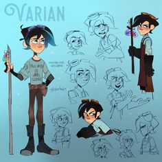 You guys I cannot express how much I love this moody kid. He's such a cool character and the Tangled series is lovely. AND THE MUSIC???? Anyway I've had a modern Varian design sitting in my folders...