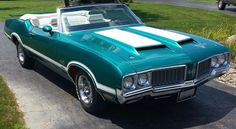 '70 442 W30 'vert special order paint Aegean Aqua -my all time favorite 1970 special order color combo!
