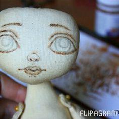 VikTORRYa. Dollmaker. @torrytoys Добрый день. Давн...Instagram photo | Websta (Webstagram) Doll Face Paint, Dream Doll, Fabric Toys, Doll Eyes, Doll Tutorial, Sewing Dolls, Paper Hearts, Doll Maker, Fairy Dolls
