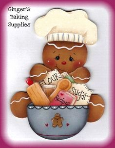 Gingerbread Painting Patterns | The Decorative Painting Store: Gingerbread Baking Supplies, e-Patterns