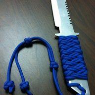 Paracord knife handle wrap.