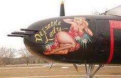 Navy Airplane Pin Up Girls | Inspiration: Aircraft Nose Art | Fieldey Custom Art