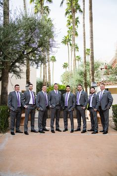 The Scottsdale Resort At McCormick Ranch Wedding The Scottsdale Resort Wedding Purple Groomsmen, Groom And Groomsmen Attire, Groomsmen Outfits, Sedona Wedding, Arizona Wedding, Scottsdale Resorts, Scottsdale Arizona, Courtyard Wedding, Phoenix Wedding Photographer